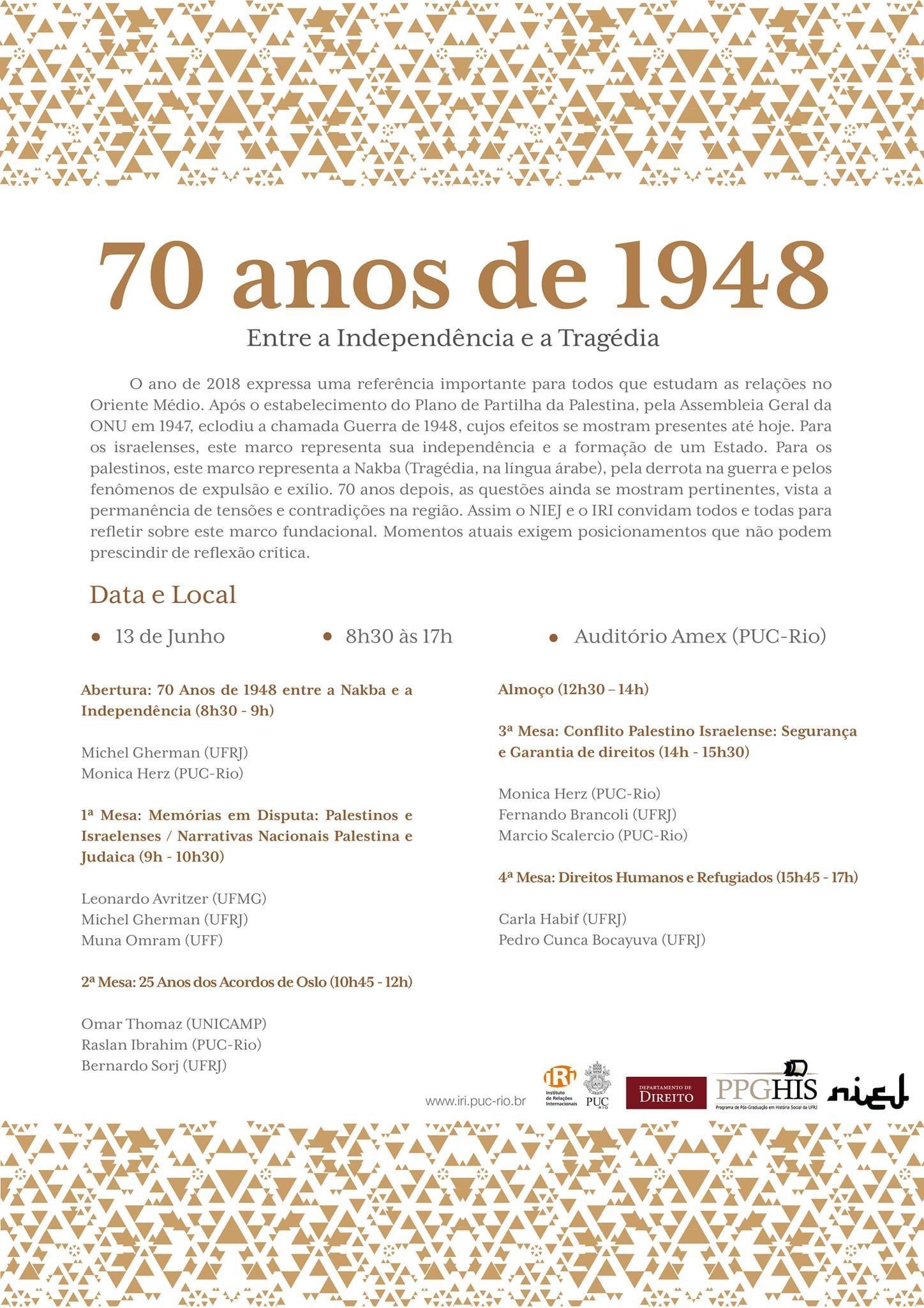70 anos de 1948: Entre a Independência e a Tragédia