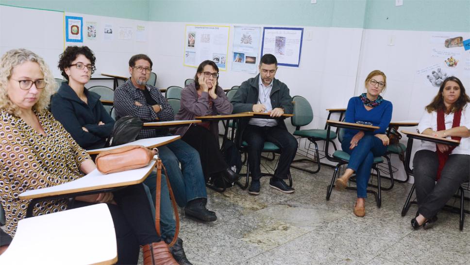 Andrea Gil e Marta Fernández participam de palestra sobre violência e poder no Polo Caxias