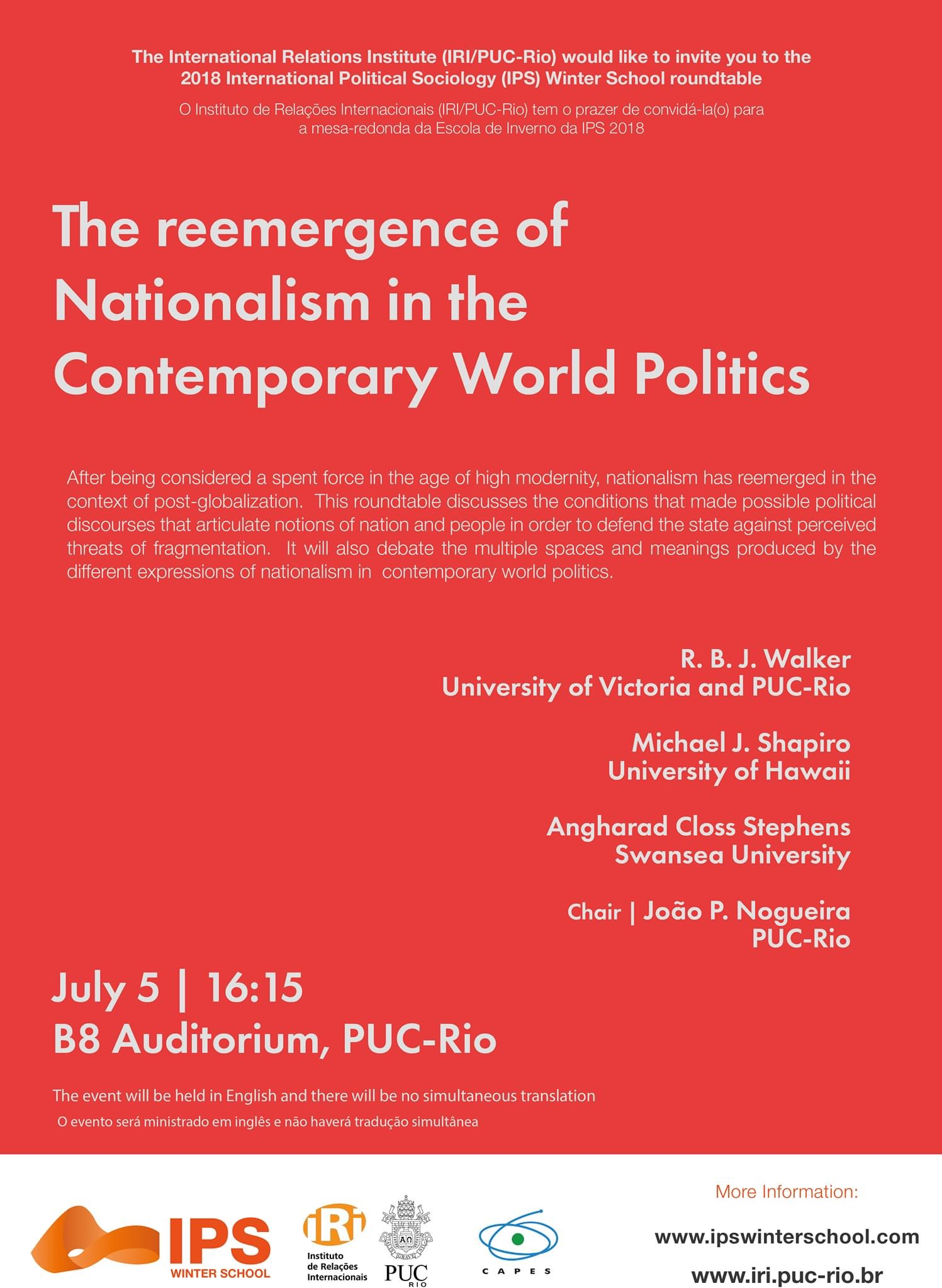The reemergence of Nationalisms in the Contemporary World Politics