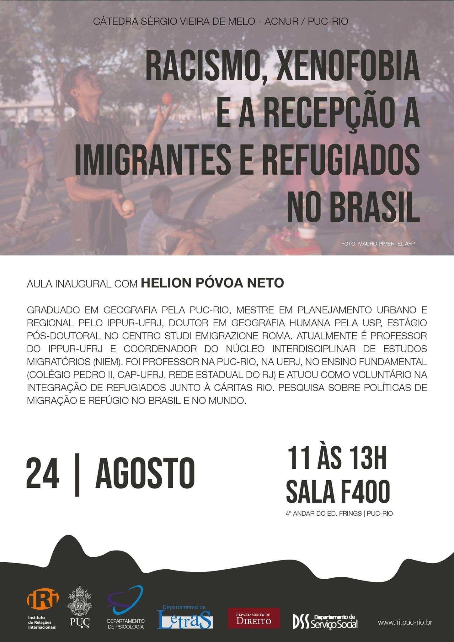 Racismo, xenofobia e recepção de imigrantes e refugiados no Brasil