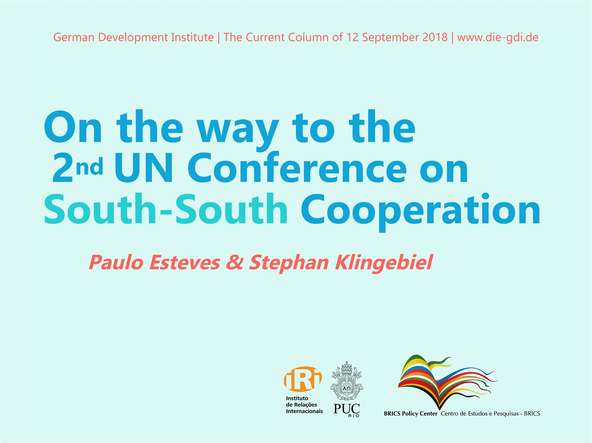 On the way to the second UN Conference on South-South Cooperation