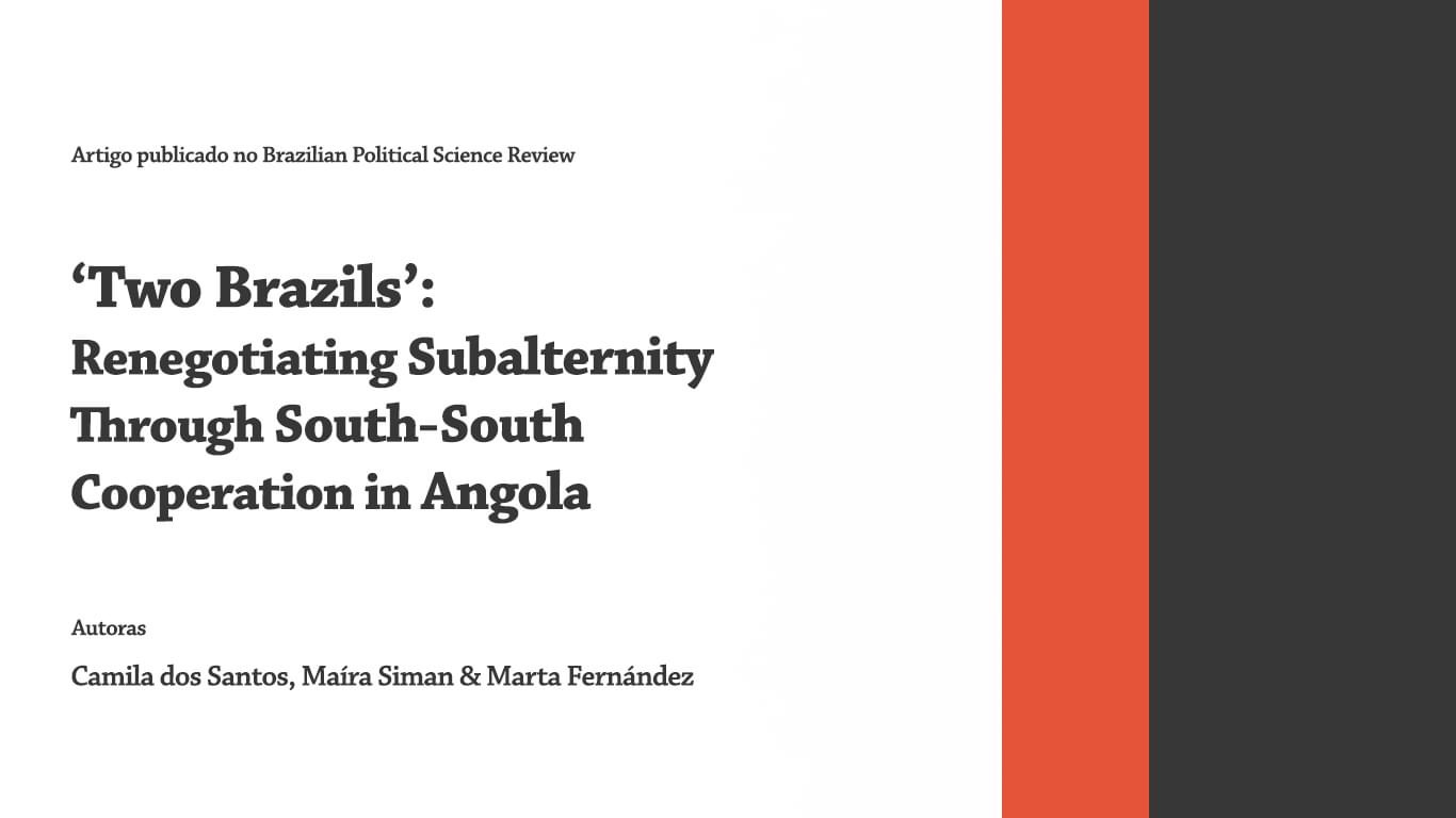 Two Brazils': Renegotiating Subalternity Through South-South Cooperation in Angola