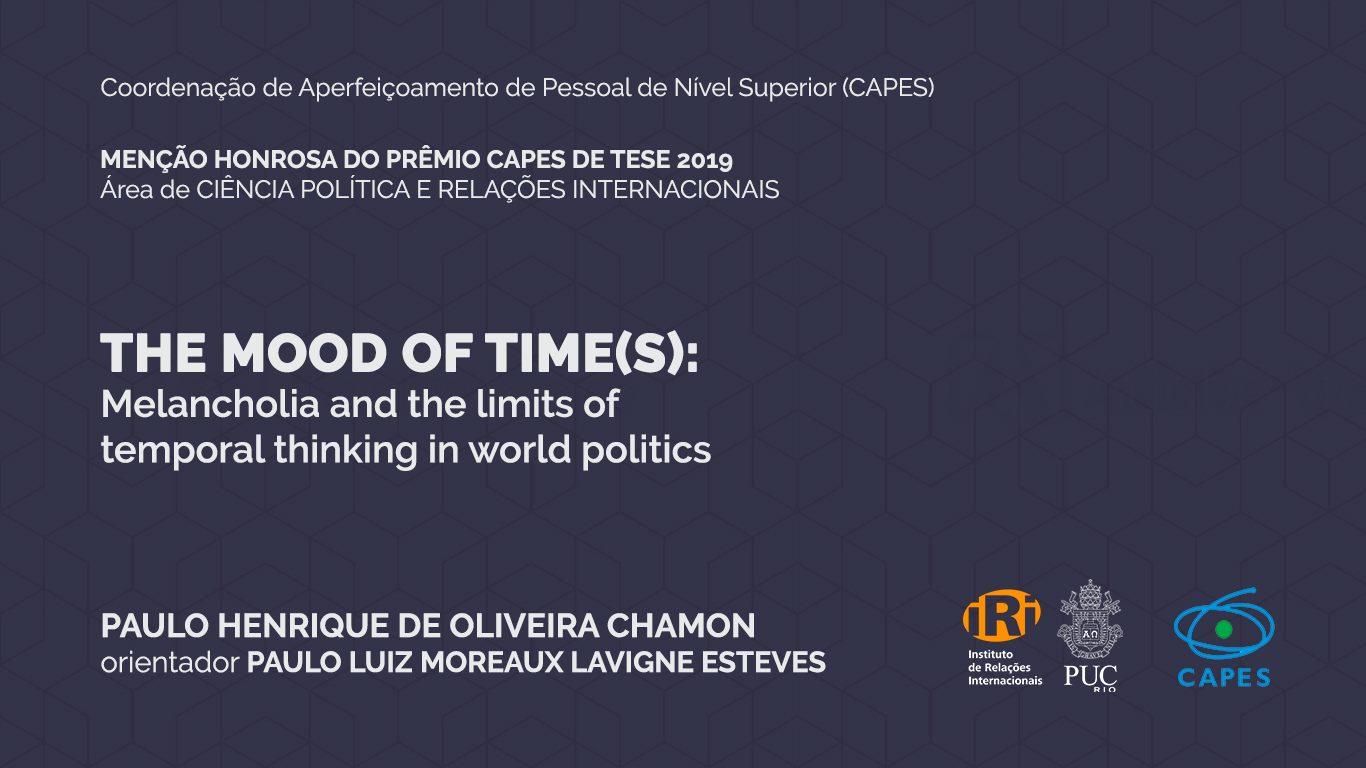 Paulo Chamon ganha Menção Honrosa do Prêmio CAPES de Tese 2019