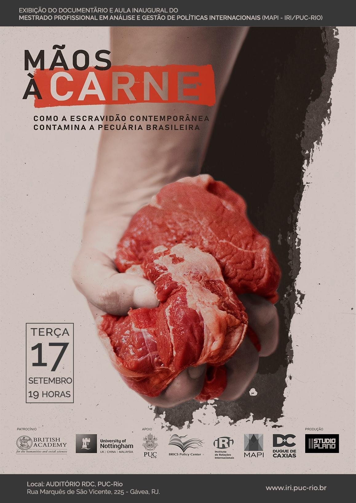 """Aula Inaugural do MAPI: """"Mãos à Carne: Como a Escravidão Contemporânea Contamina a Pecuária Brasileira"""""""