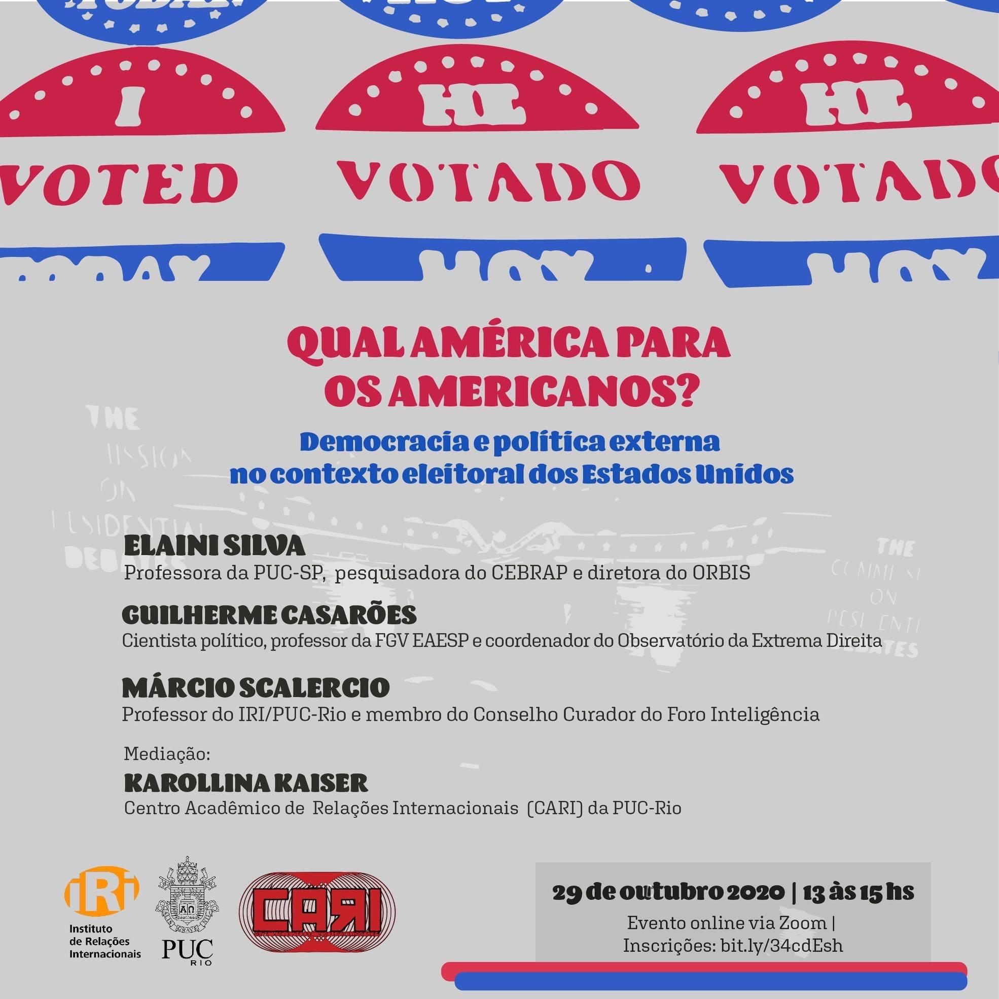 Debate de Conjuntura | Qual América para os americanos? Democracia e política externa no contexto eleitoral dos EUA
