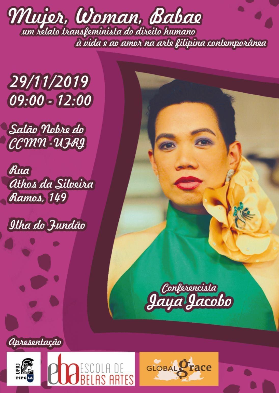 """""""Mujer, Woman, Babae: um relato transfeminista do direito humano à vida e ao amor na arte filipina contemporânea"""" com Jaya Jacobo"""
