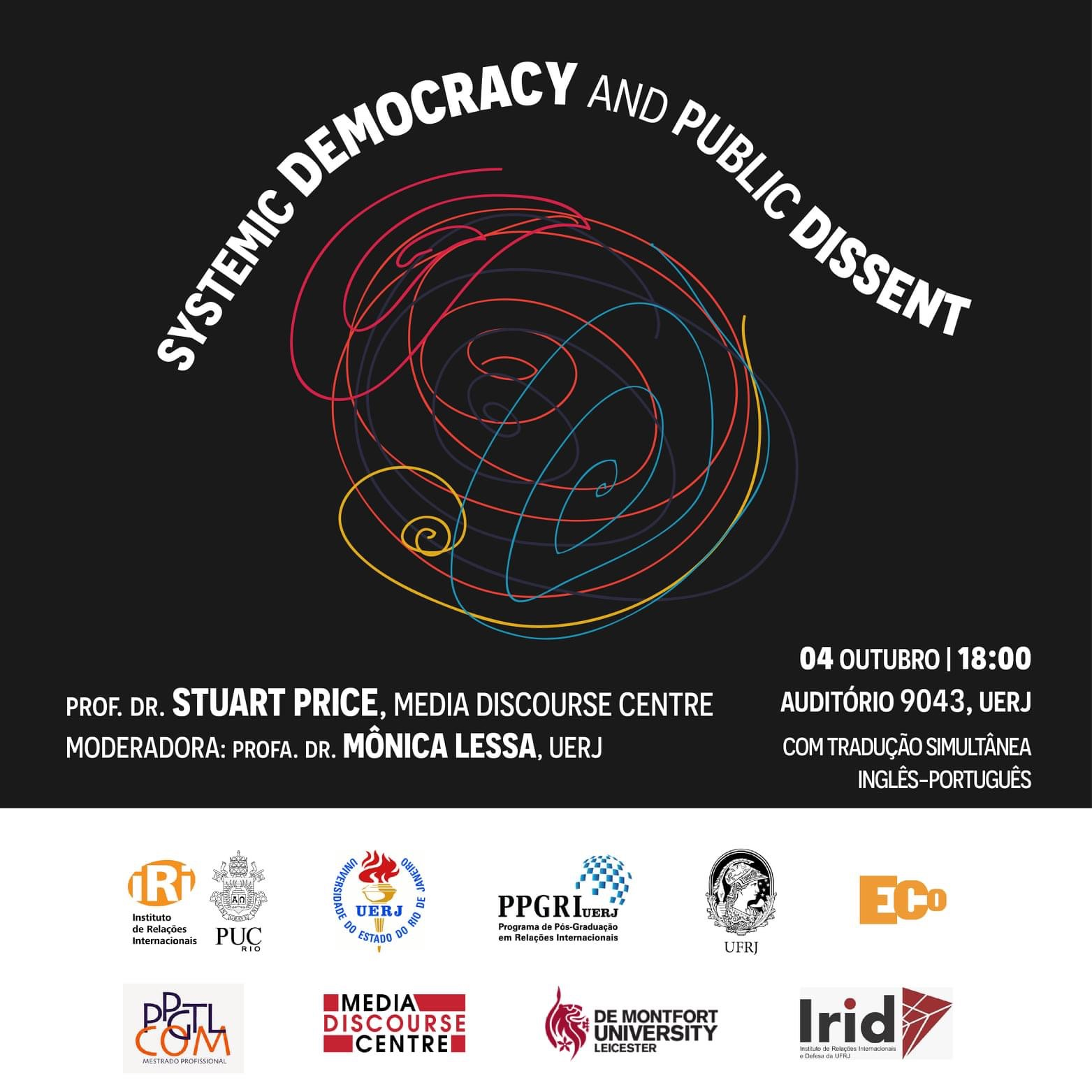 """""""Systemic Democracy and Public Dissent"""", Prof.Dr. Stuart Price"""