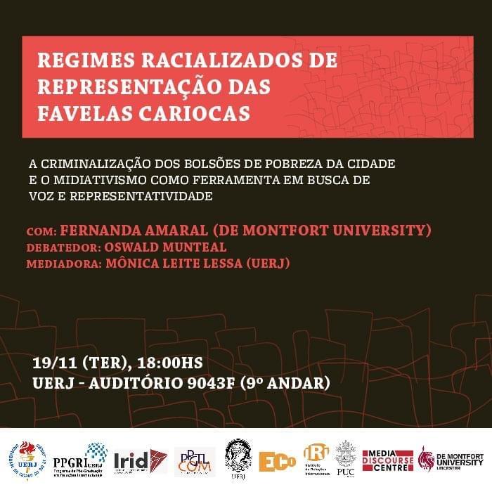 Regimes racializados de representação das favelas cariocas: a criminalização dos bolsões de pobreza da cidade e o midiativismo como ferramenta em busca de voz e representatividade