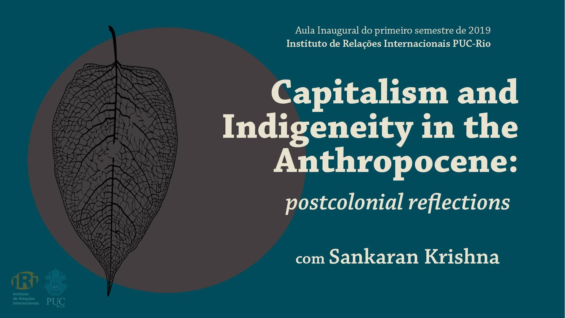 Capitalismo, indigeneidade e crise do antropoceno: uma reflexão pós colonial