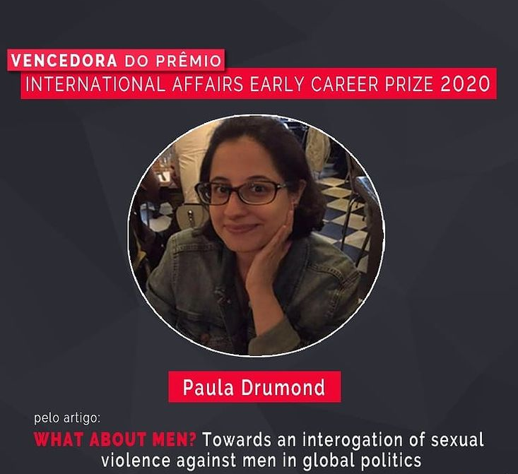Paula Drumond vence o International Affairs Early Career Prize 2020