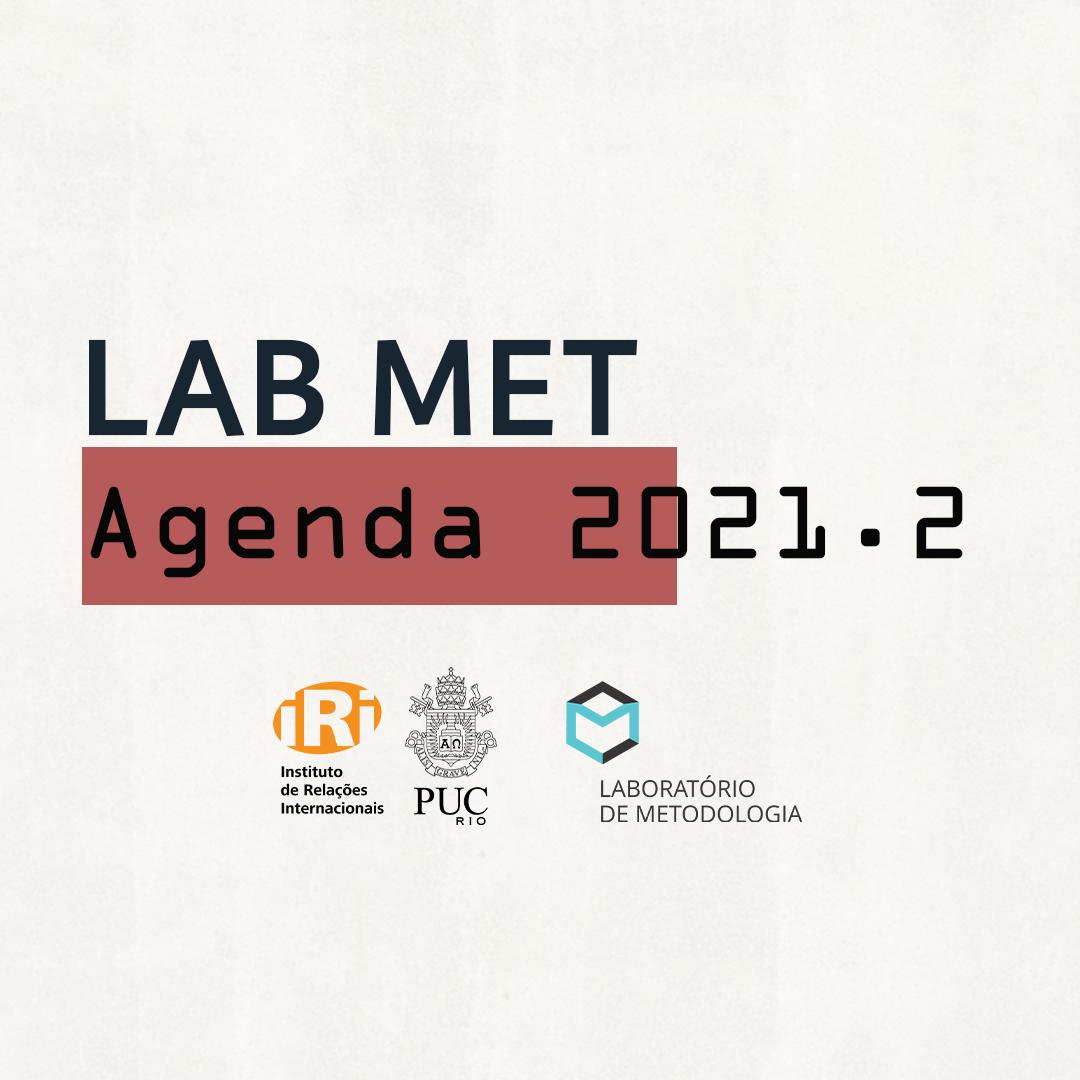 Agenda de atividades 2021.2 do Laboratório de Metodologia