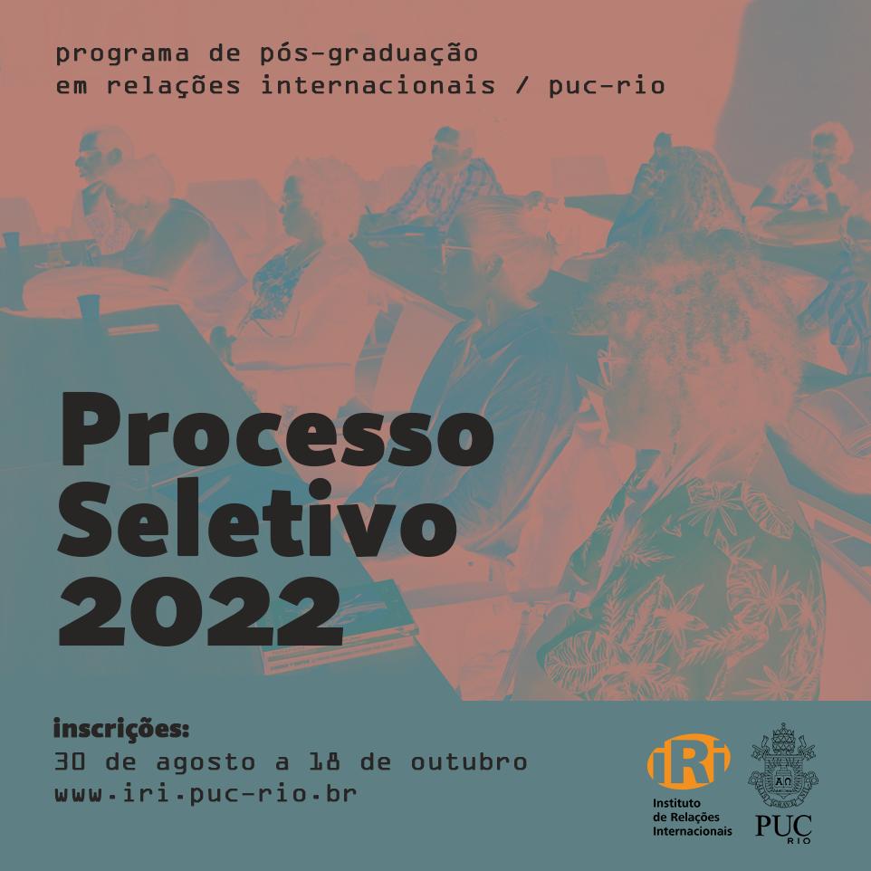 Processo seletivo 2021-2022 da pós-graduação