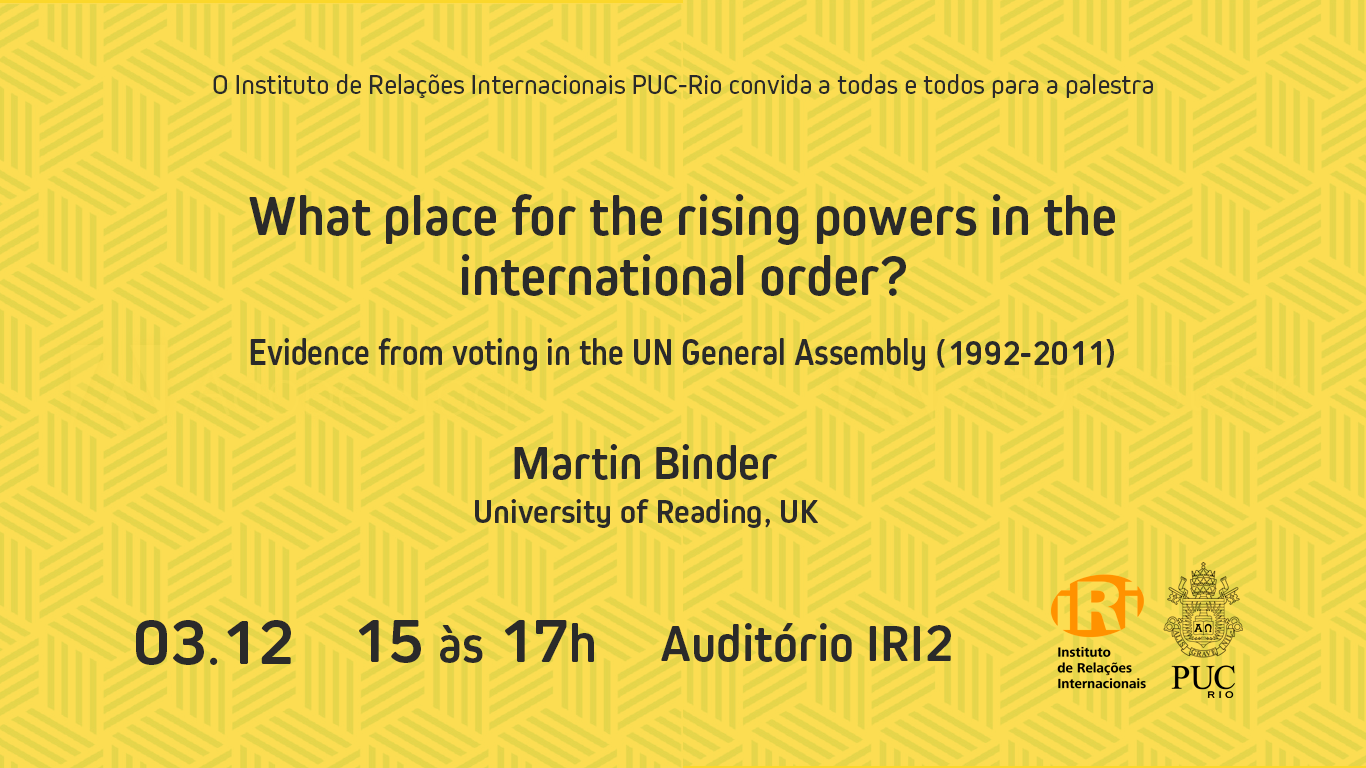What place for the rising powers in the international order?